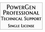 Technical Support - PowerGen Professional Single License